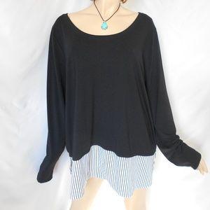 Nwt +$39 LANE BRYANT 22W-24W/3X 2 PC Look Sweater